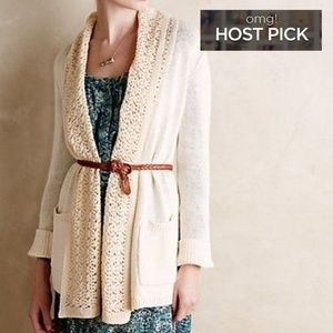 Angel of the North Anthro Open Cardigan Sweater S